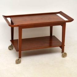 1960's Danish Vintage Teak Drinks Trolley by Tove & Edvard Kindt-Larsen