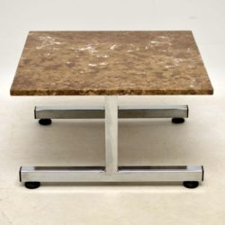 vintage marble and chrome coffee table