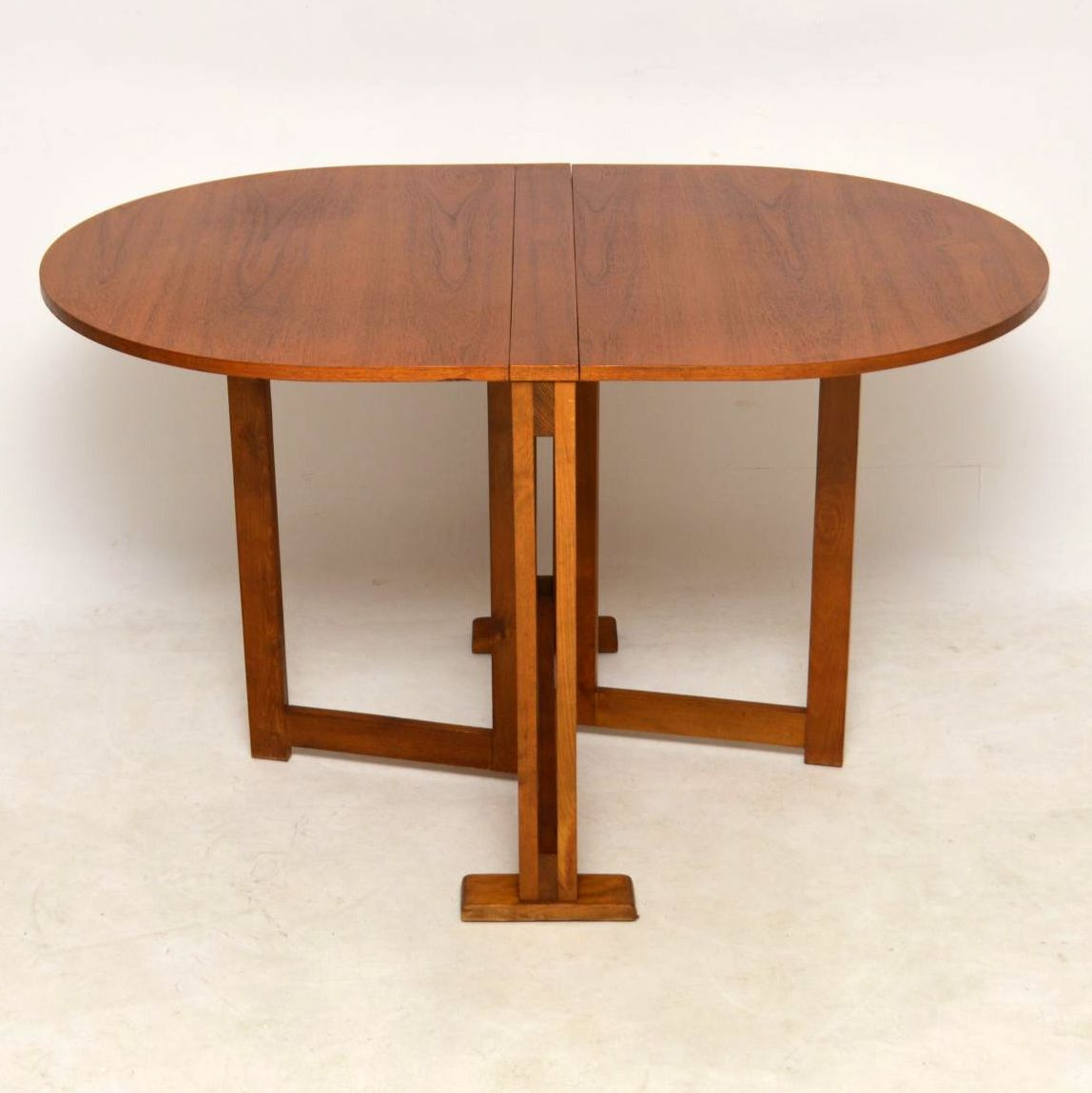 1960 S Teak Vintage Drop Leaf Dining Table