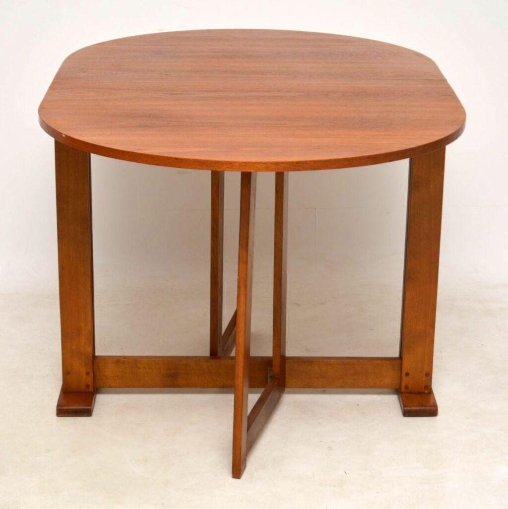 vintage teak drop leaf dining table