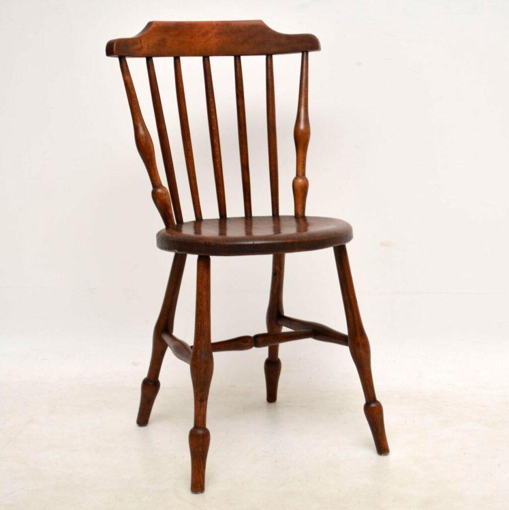 antique swedish elm ibex chair
