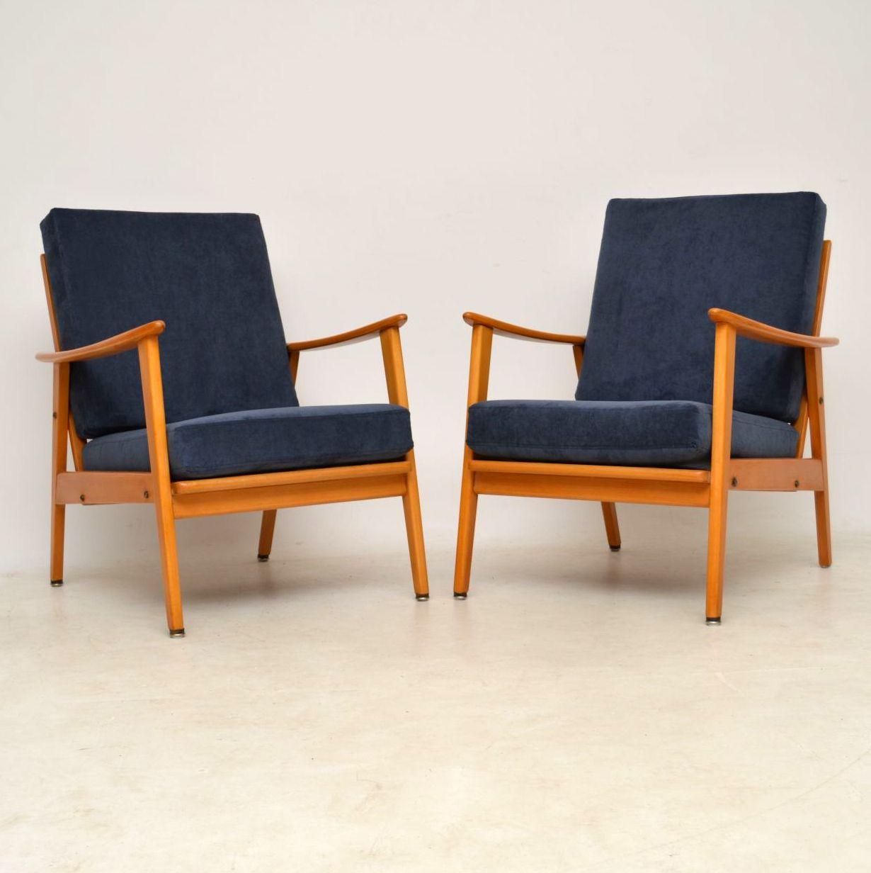 pair of danish retro armchairs vintage 1960 s ebay