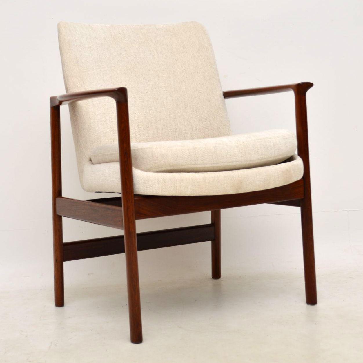 danish rosewood armchair by kofod larsen