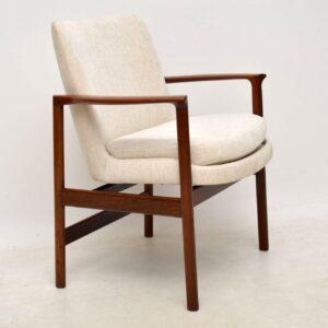 1960's Vintage Danish Rosewood Armchair by IB Kofod Larsen