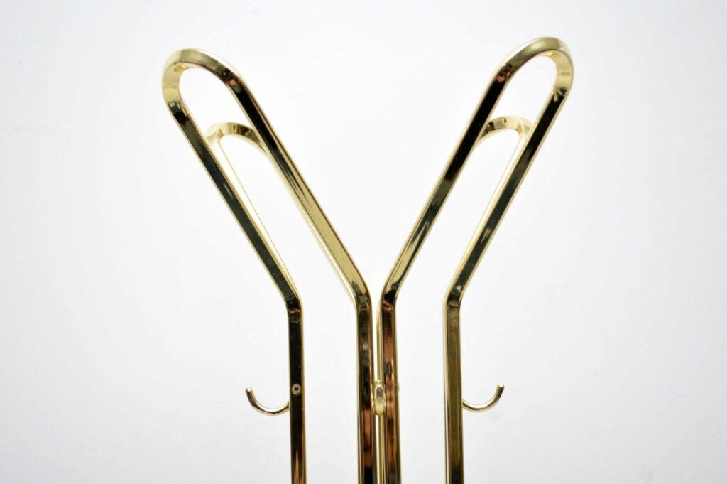 vintage brass and marble hatstand coat rack
