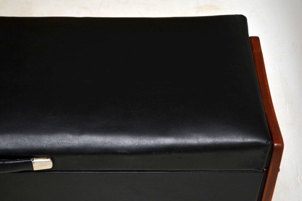 vintage mid-century ottoman blanket chest