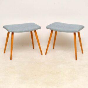 vintage danish pair of foot stools