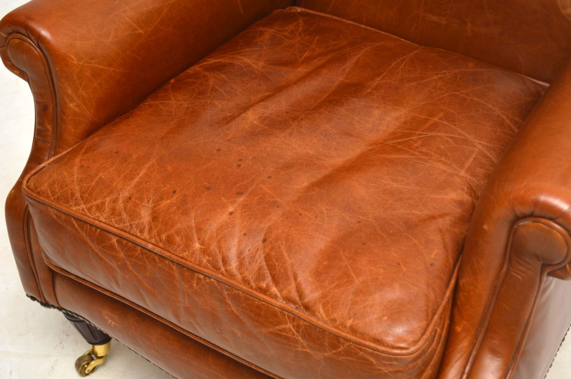 Laura Ashley Southwold Wing Back Leather Armchair ...