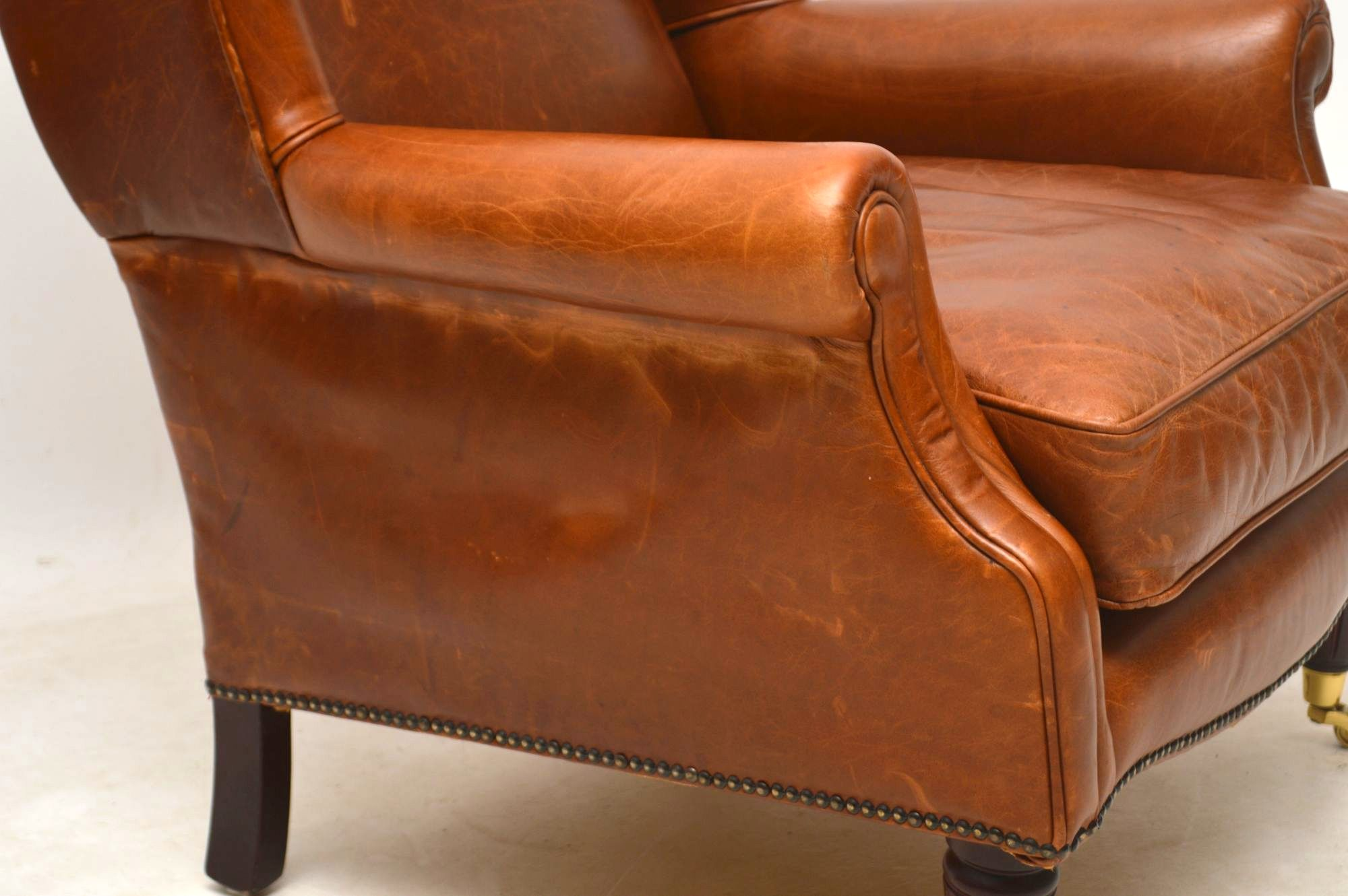 Laura Ashley Southwold Wing Back Leather Armchair