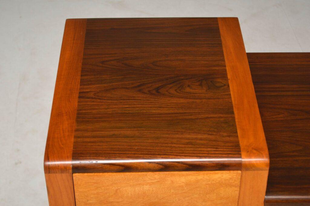 vintage rosewood mid-century desk