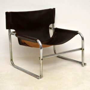 pair of vintage leather armchairs rodney kinsman t1