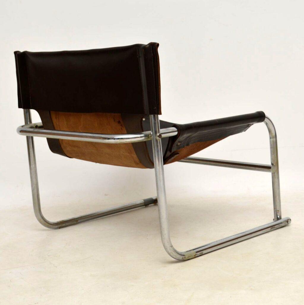 vintage leather armchair rodney kinsman t1 omk