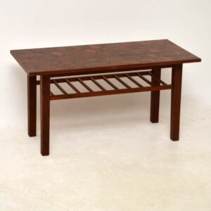 vintage danish teak coffee table