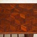1960's Teak Vintage Coffee Table with Parquetry Top