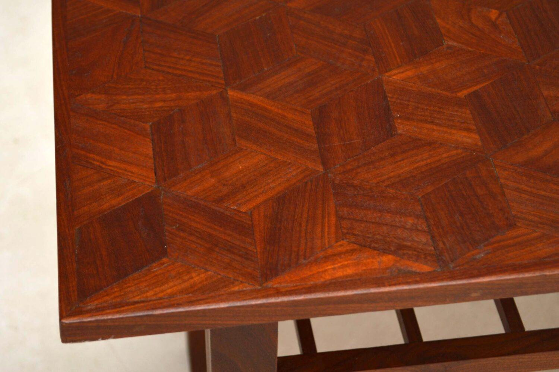vintage danish teak coffee table