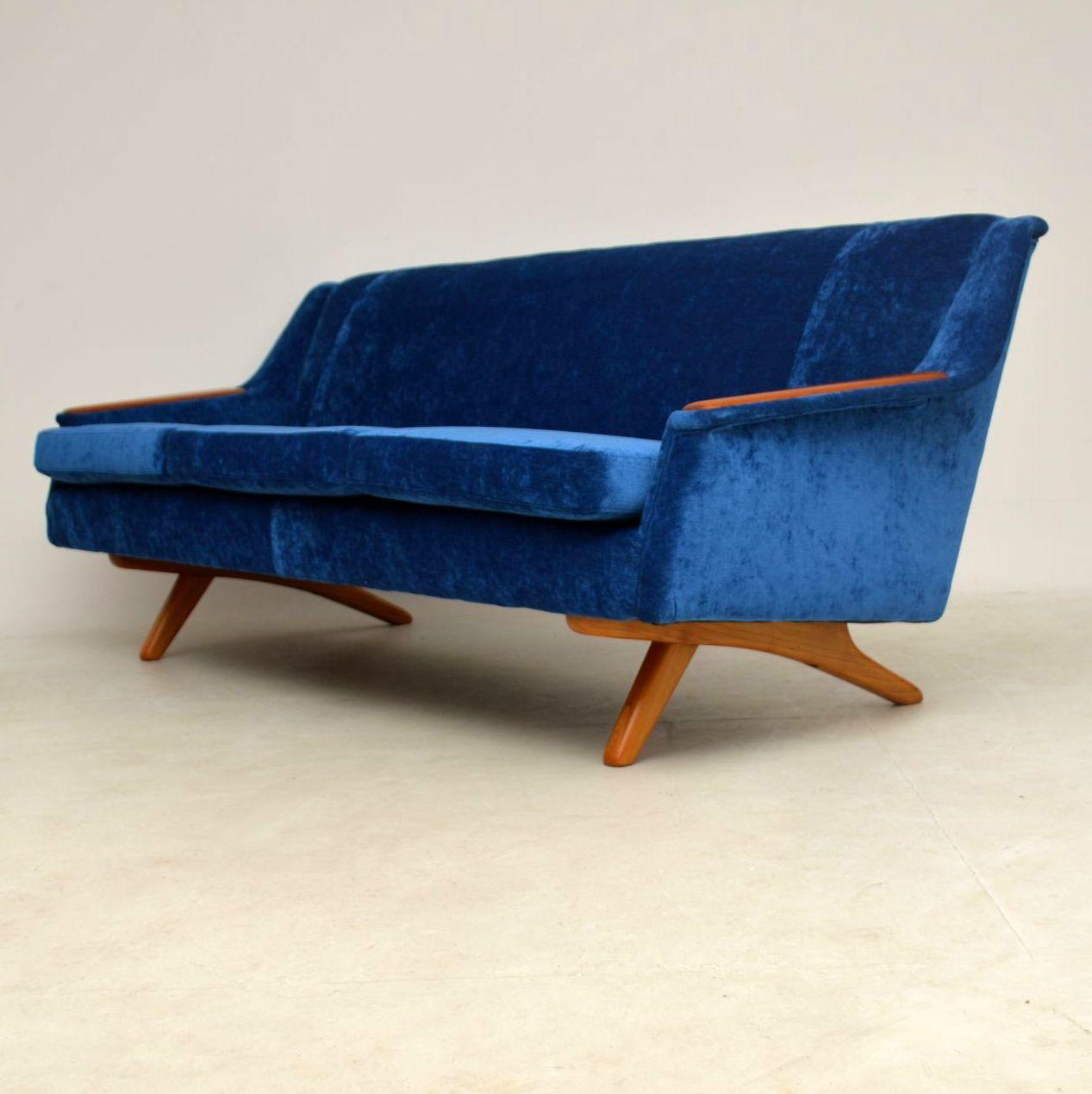 ... 1960u0027s Vintage Sofa By Illum Wikkelso For Westnofa ...