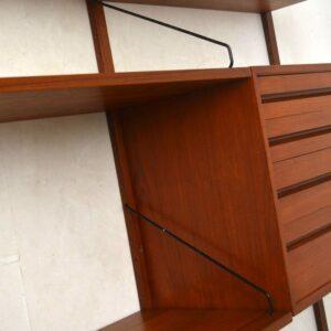 danish teak vintage wall unit by poul cadovius