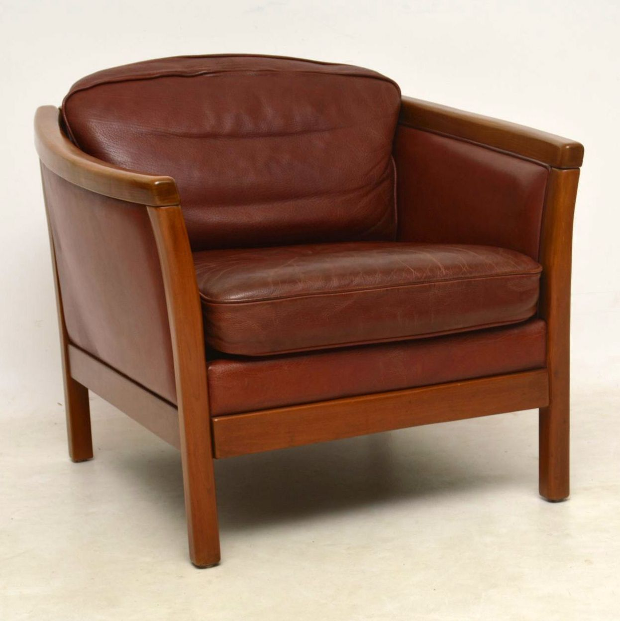 Pair of Danish Vintage Leather Armchairs | Retrospective ...