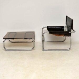 rodney kinsman vintage chrome coffee table