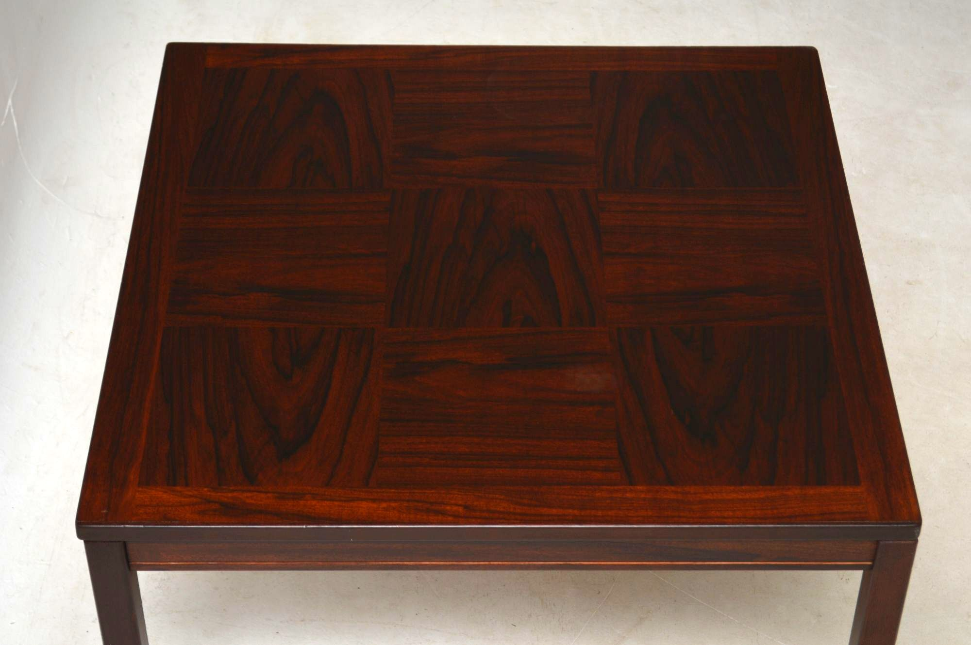 Rosewood Scandinavian Vintage Coffee Table By Heggen Of