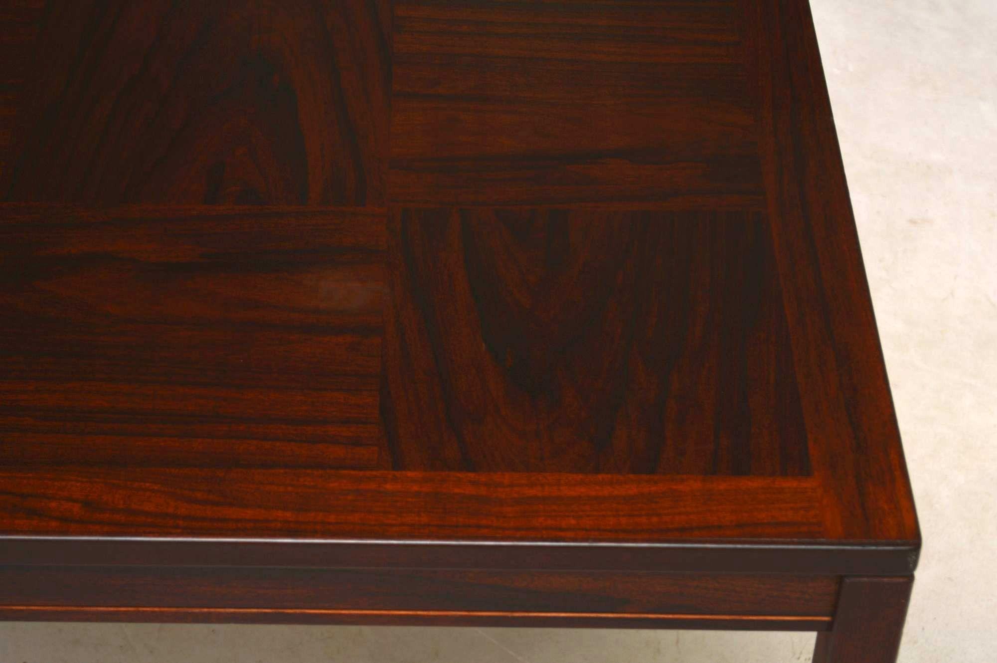 Rosewood Scandinavian Vintage Coffee Table By Heggen Of