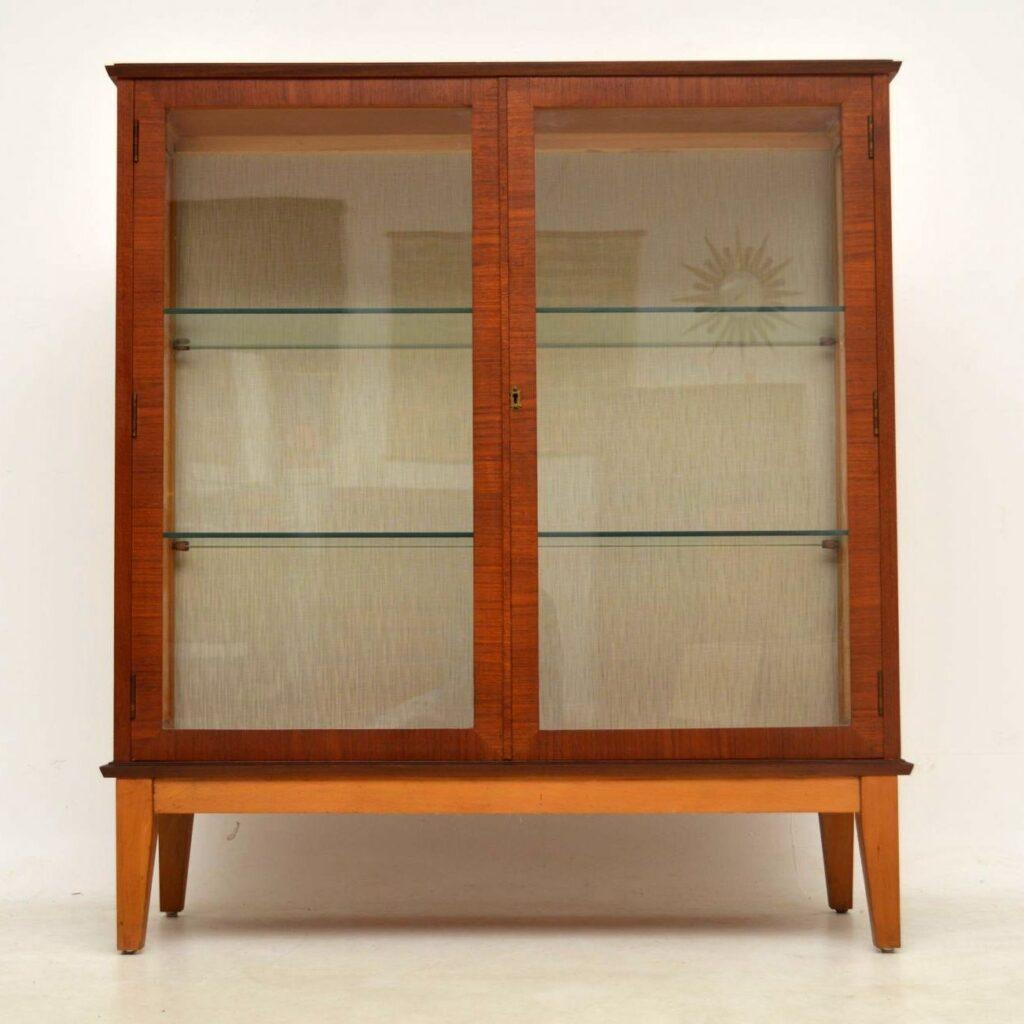 vintage teak display cabinet bookcase