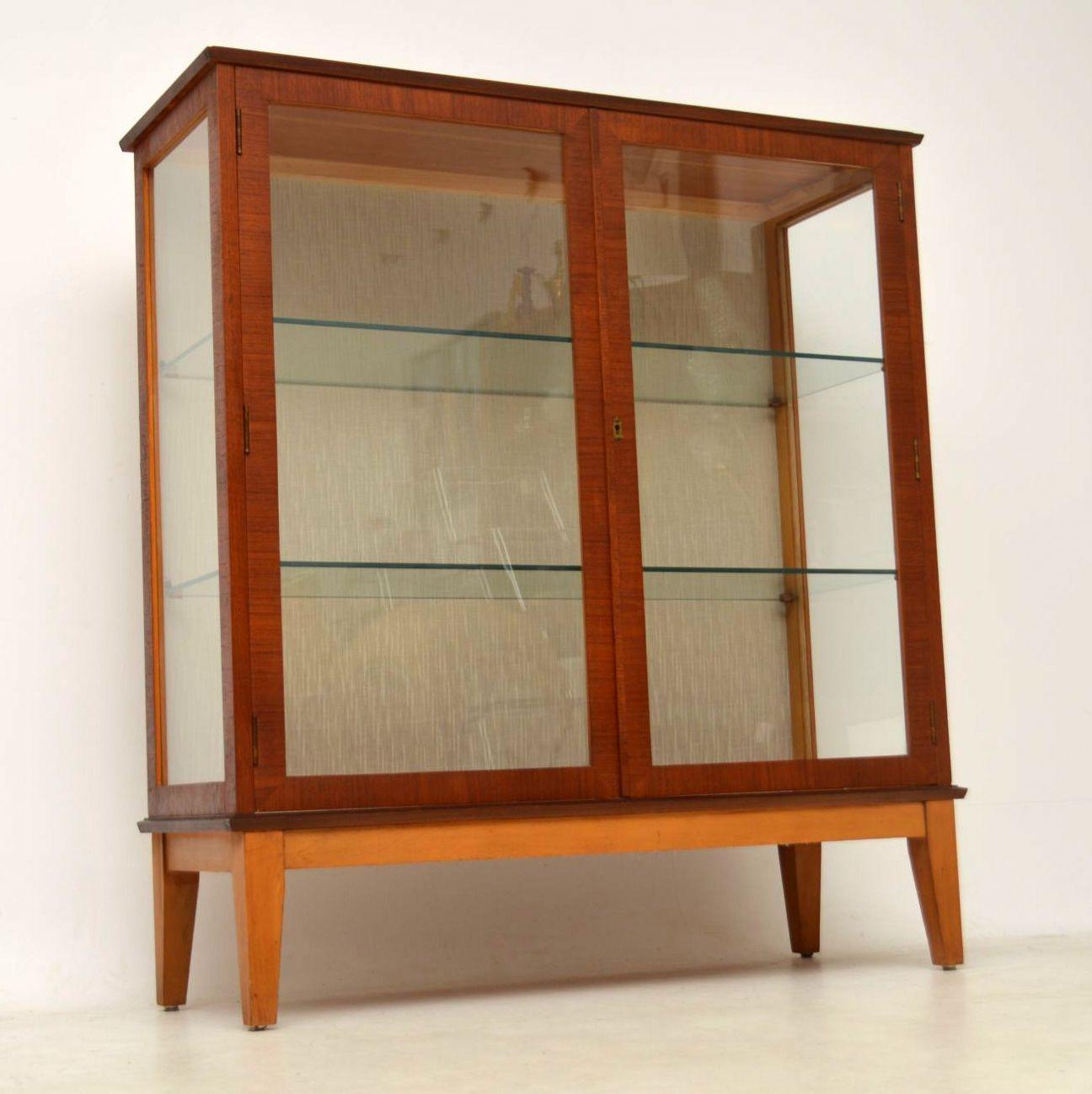 1960 S Teak Vintage Bookcase Display Cabinet