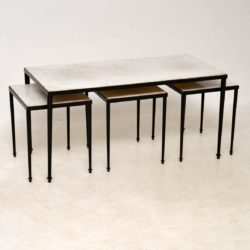 1950's Marble Top Nesting Coffee Tables