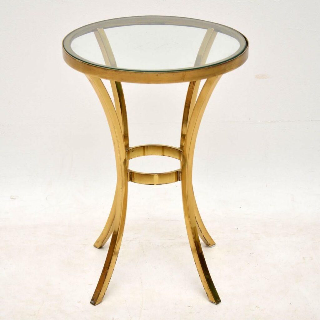 vintage solid bronze side table
