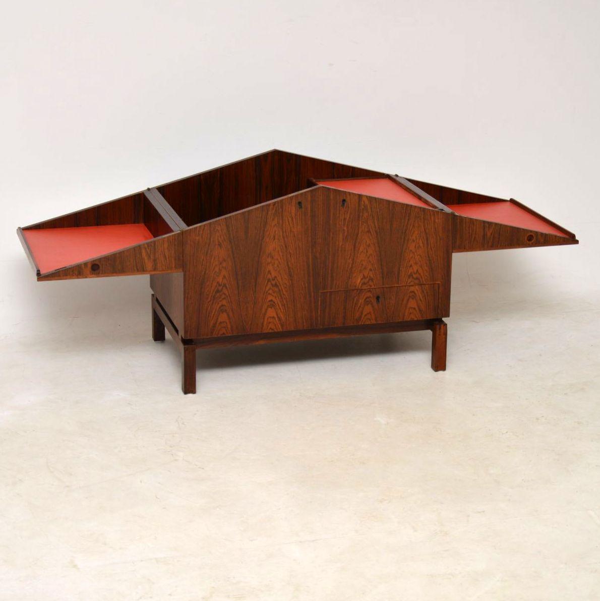 danish rosewood drinks cabinet