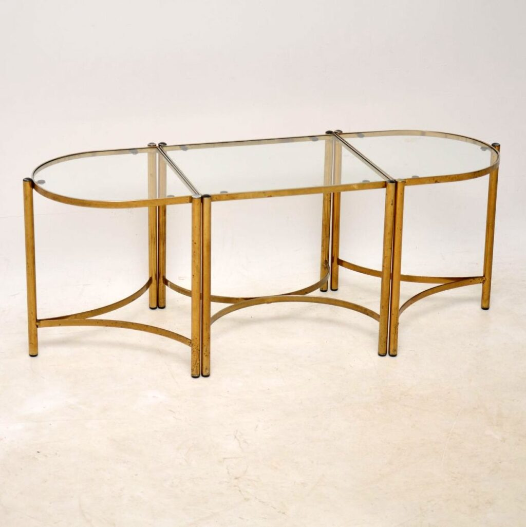 vintage brass coffee table