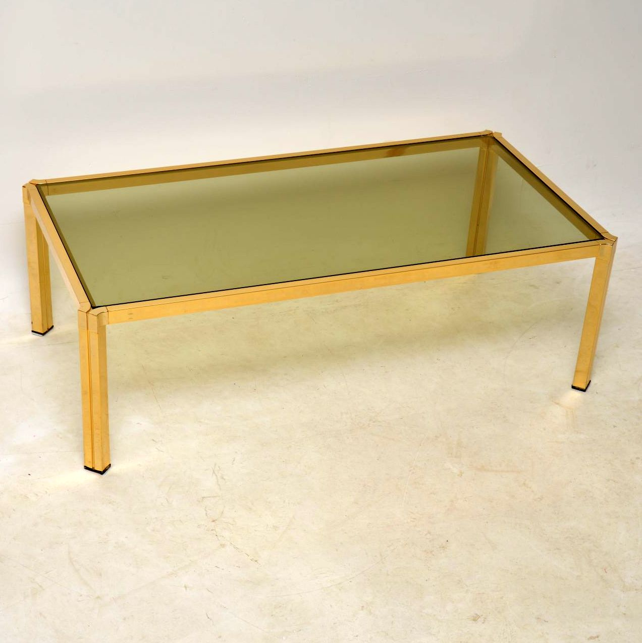 1970 S Vintage Brass Coffee Table