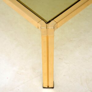 vintage brass coffee table 1970s