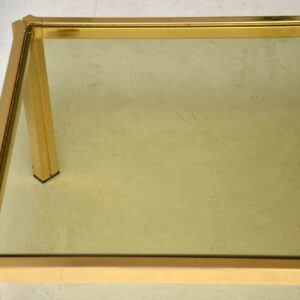1970's Vintage Brass Coffee Table