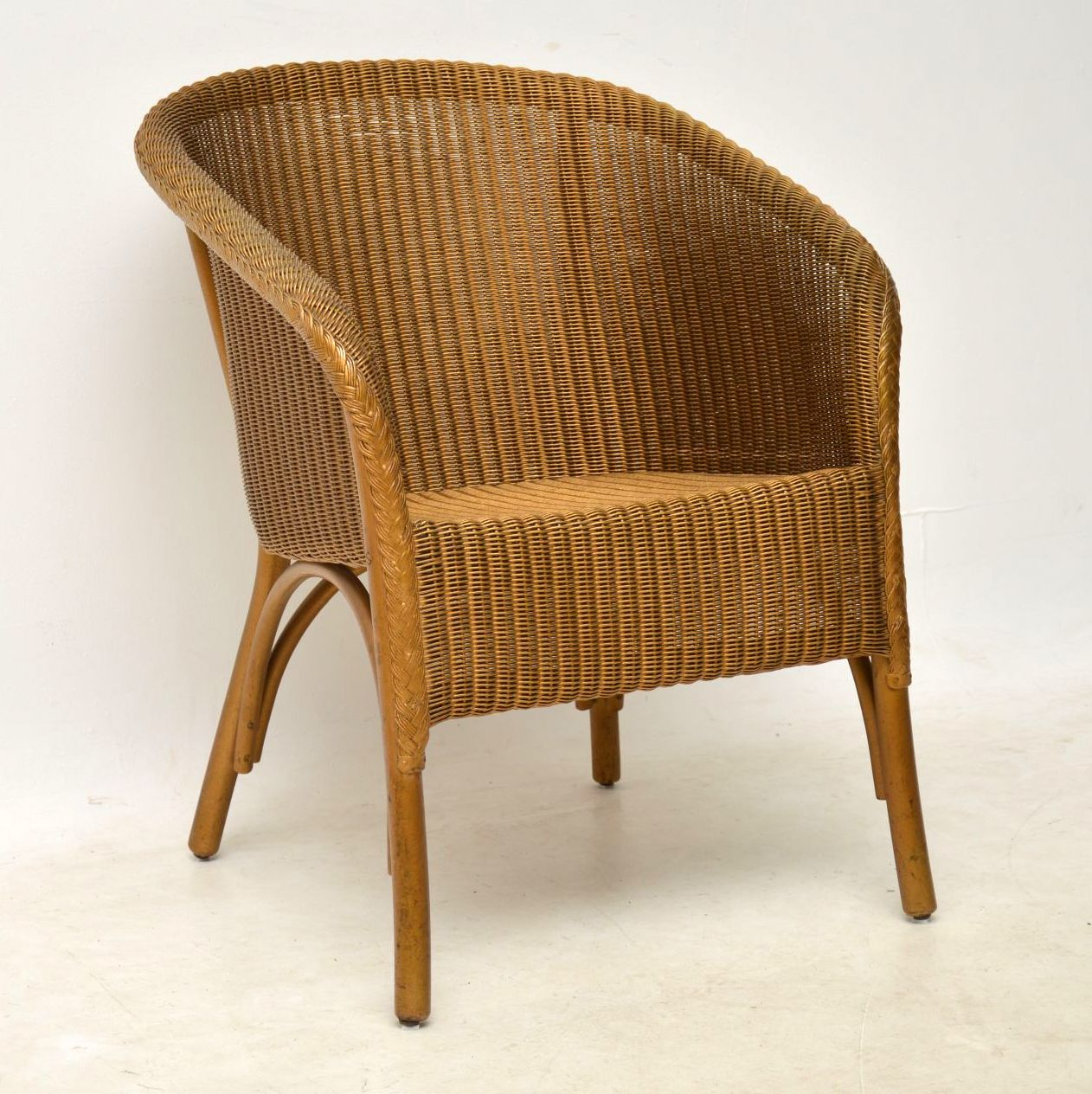 1950 s lloyd loom lusty wicker armchair chair retrospective interiors vintage furniture. Black Bedroom Furniture Sets. Home Design Ideas