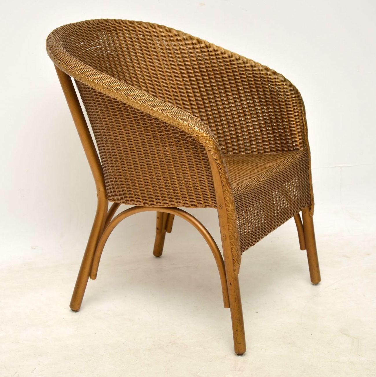1950 s lloyd loom lusty wicker armchair chair retrospective interiors vintage furniture. Black Bedroom Furniture Sets. Home Design Ideas