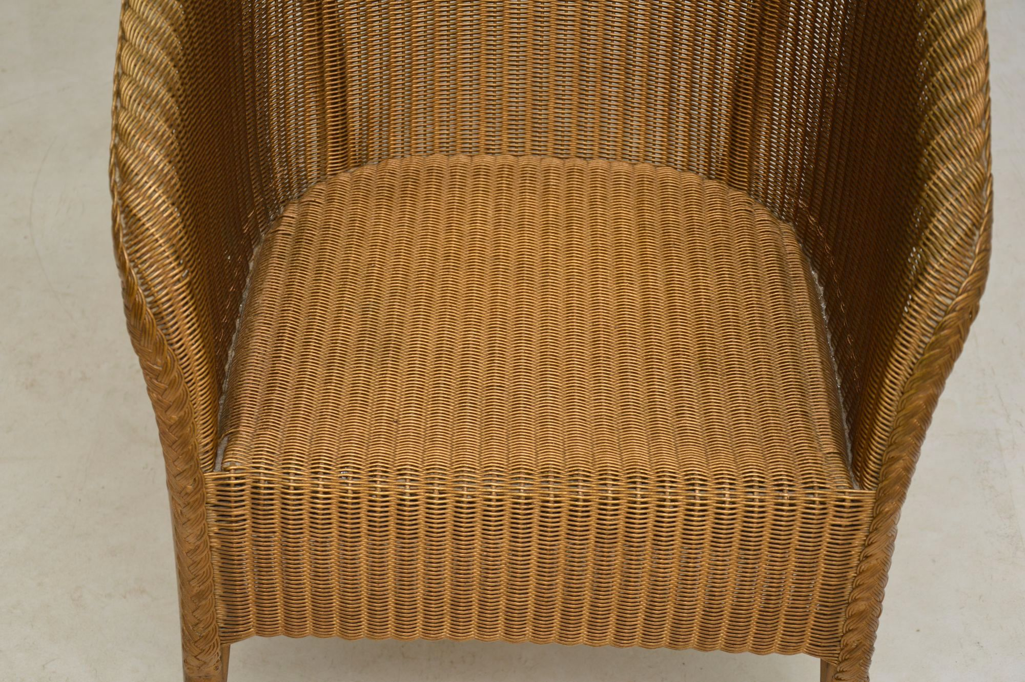 1950 S Lloyd Loom Lusty Wicker Armchair Chair