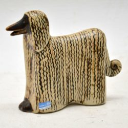 1960's Swedish Vintage Pottery Afghan Hound by Lisa Larsson for Gustavsberg
