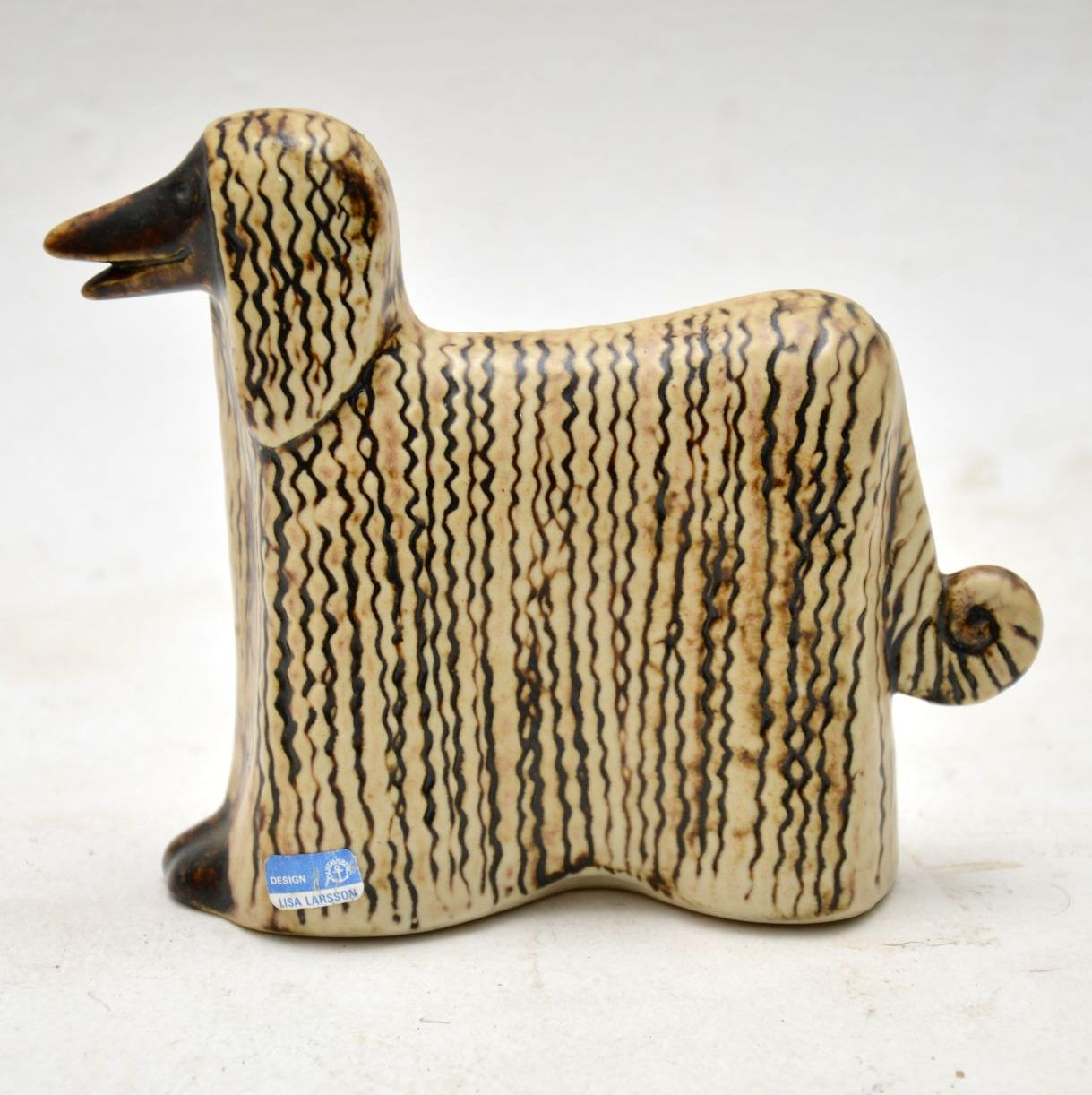 1960 S Swedish Vintage Pottery Afghan Hound By Lisa