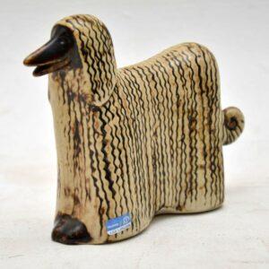 vintage lisa larsson afghan hound for gustavsberg sweden