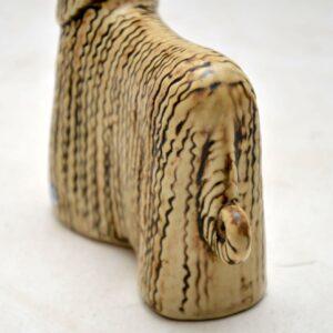 1960's Swedish Vintage Pottery Afghan Hound by Lisa Larsson for Gustavsberg