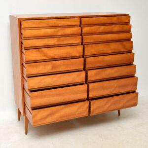 1950's Swedish Satin Wood Chest of Drawers