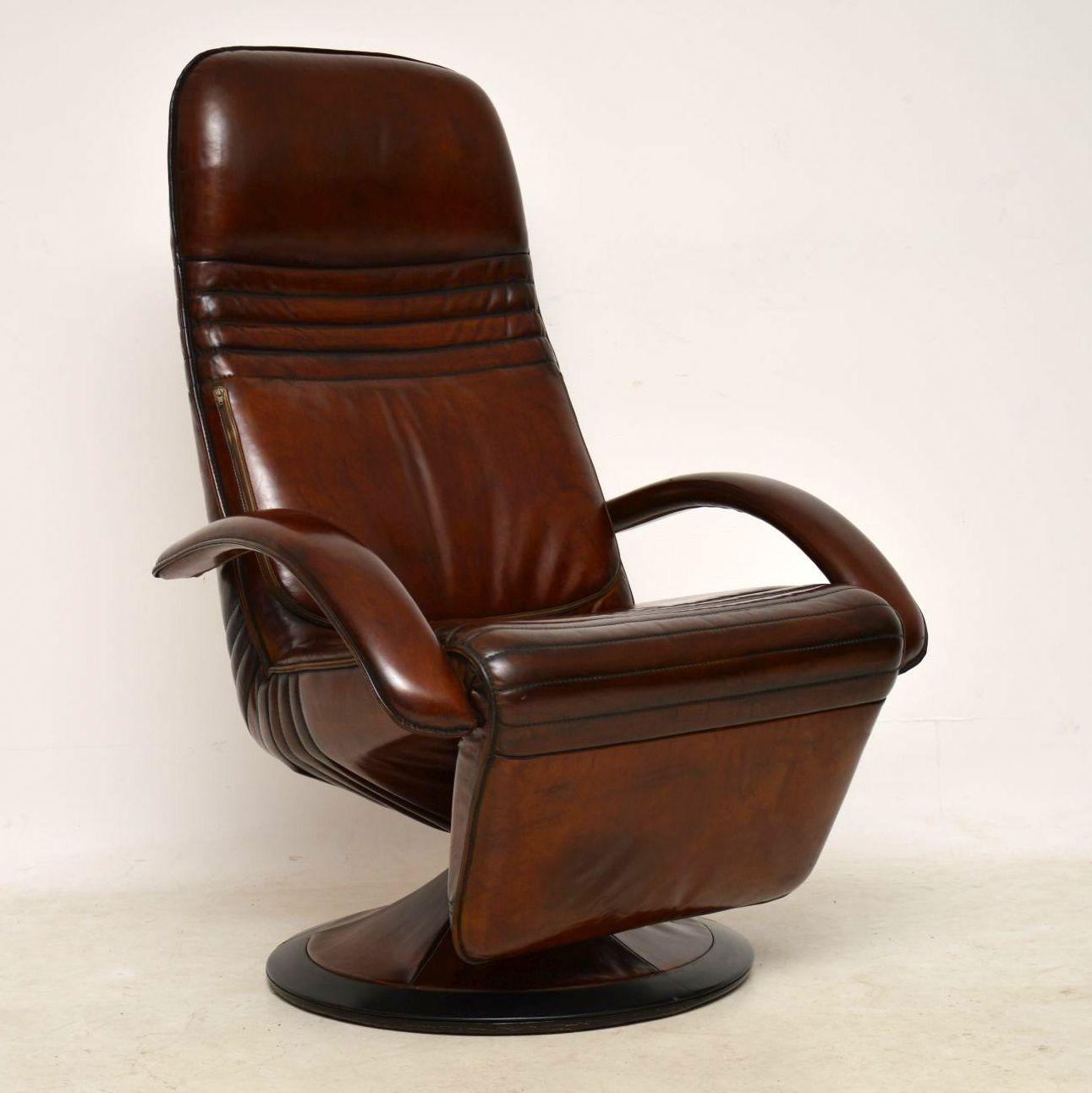 Danish Leather Reclining Armchair   Berg Ergo Line ...