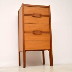 1960's Vintage Teak Tallboy Chest of Drawers
