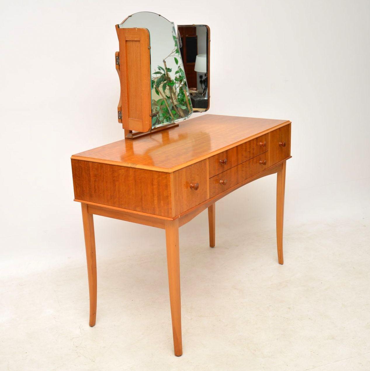 S satin wood dressing table stool retrospective