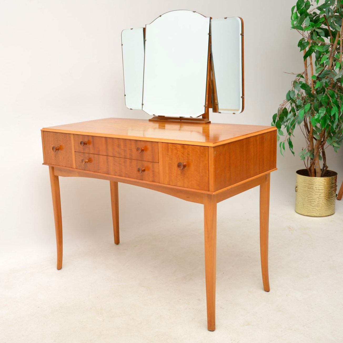 1950 S Satin Wood Dressing Table Amp Stool Retrospective