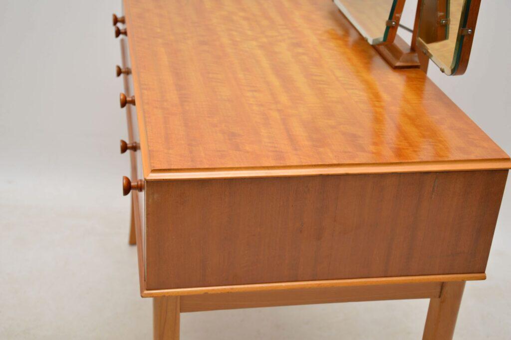 vintage satin wood dressing table and stool