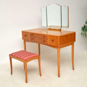 vintage satin wood dressing table and stool
