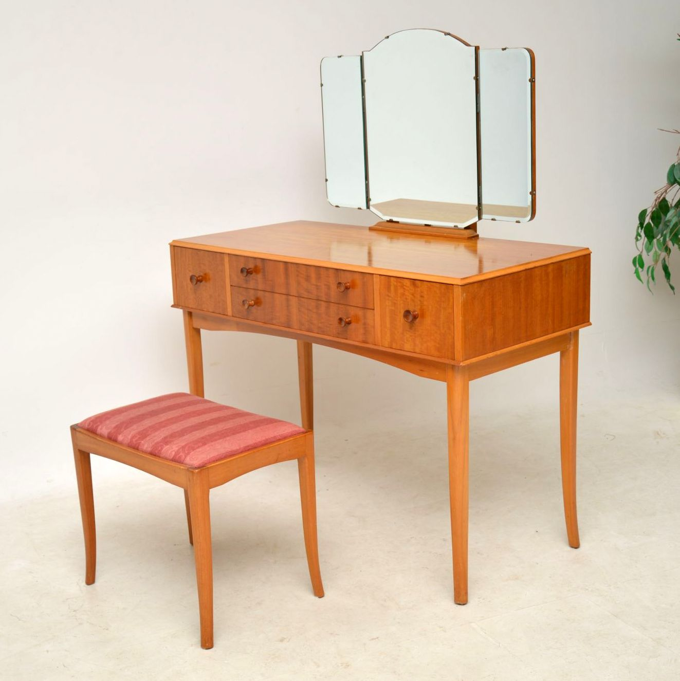 Table Dressing Wood 1950 Scarved ~ S satin wood dressing table stool retrospective