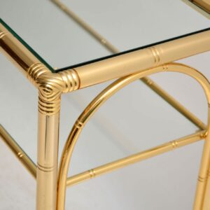 vintage brass faux bamboo console table